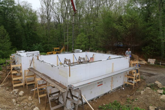 Placing concrete in the icf foundation fine homebuilding the pour went quick less than 2 hours and we were onto the basement slab with the pump already paid for a half day we took advantage and had the operator solutioingenieria Gallery