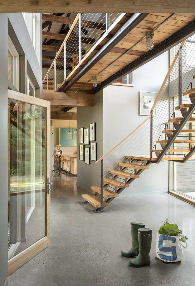 Salvaged wood elements and sustainable new materials are beautifully interwoven throughout the home's living spaces.