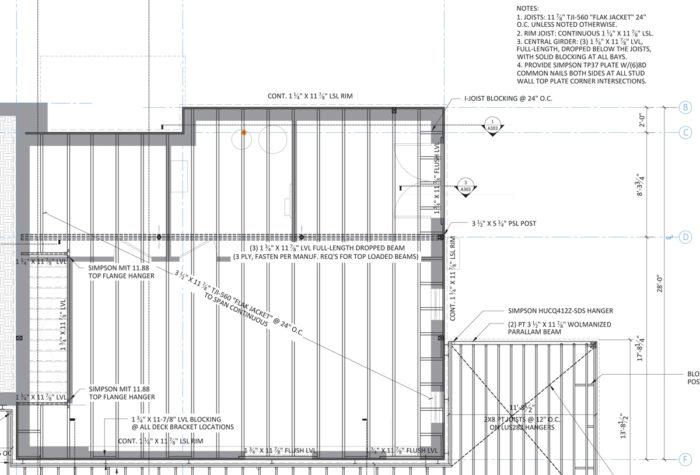 1st floor framing plan detail