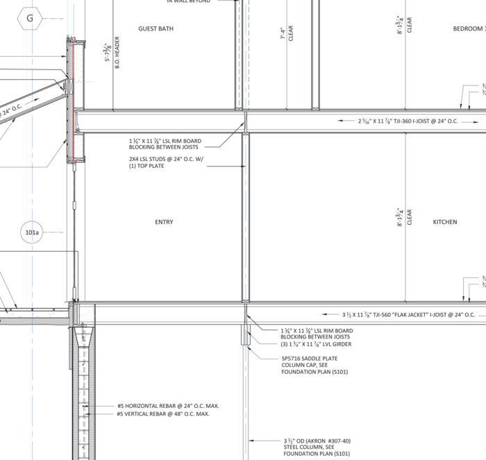 Framing section detail