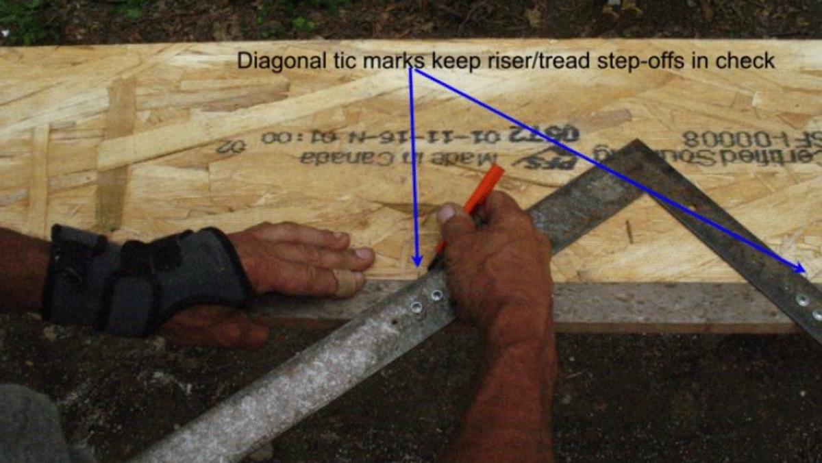 measuring stair stringers