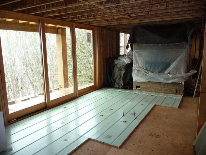 Warmboard R is a 13/16-in. thick retrofit radiant tubing subfloor