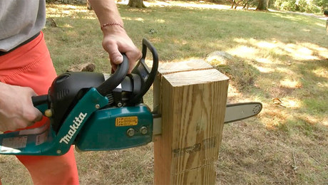 Notching Deck Posts With A Chainsaw Fine Homebuilding