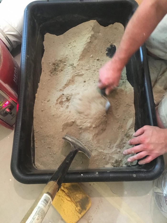 mix dry-pack mortar with sand and cement