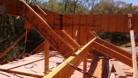 13 Microllam Beams Frame The Roof Skeleton Fine Homebuilding