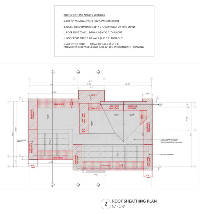 ProHOME roof sheathing plan