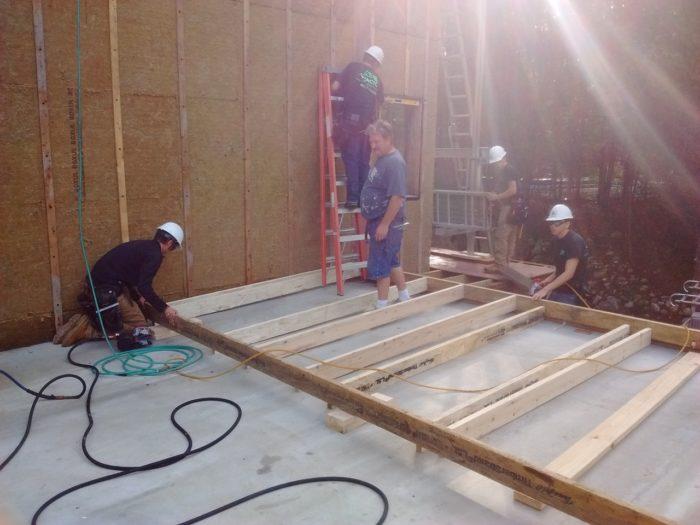 Garage Wall Framing Rear Fine Homebuilding