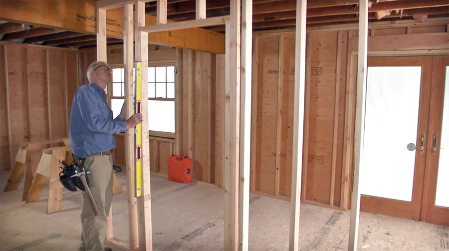 How to frame a door opening fine homebuilding - How to build a door jamb for interior doors ...
