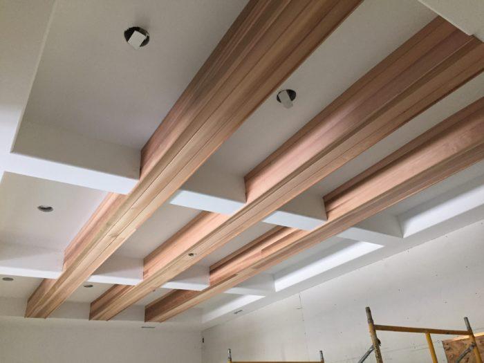 One Dark Wooden Beam ~ Clean wood beams fine homebuilding