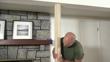 Beautify Drab Basement Support Columns With Easy To