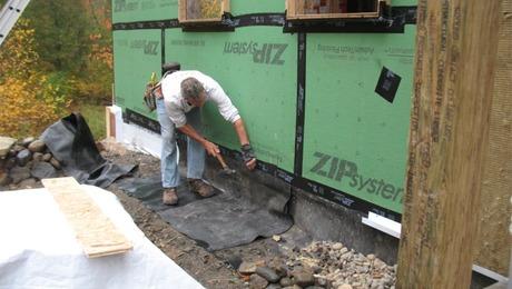 Underground Gutters Fine Homebuilding