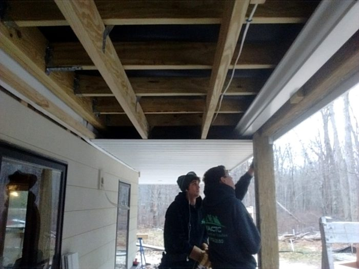 under deck ceiling deck soffit ceiling homebuilding 10616