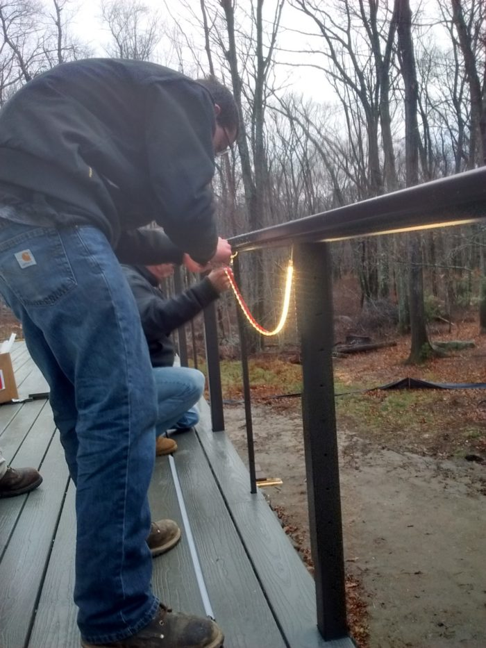 deck lighting fine homebuilding