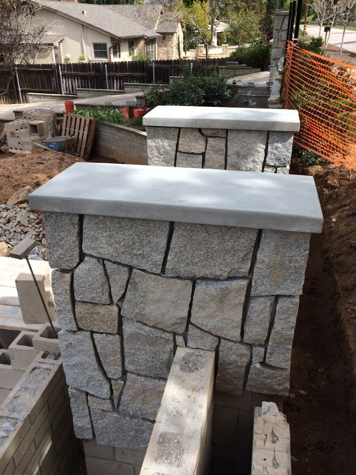 Cement Wall Caps : Site built concrete wall caps for masonry walls fine