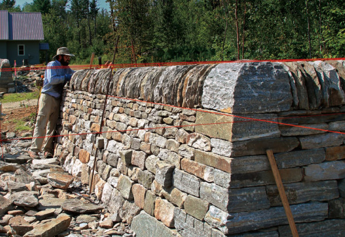 Stone walls that stay built fine homebuilding for How to build a stone cabin