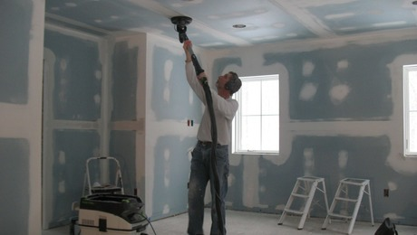 Anti-Gravity Drywall Sander and Dust-Collection System