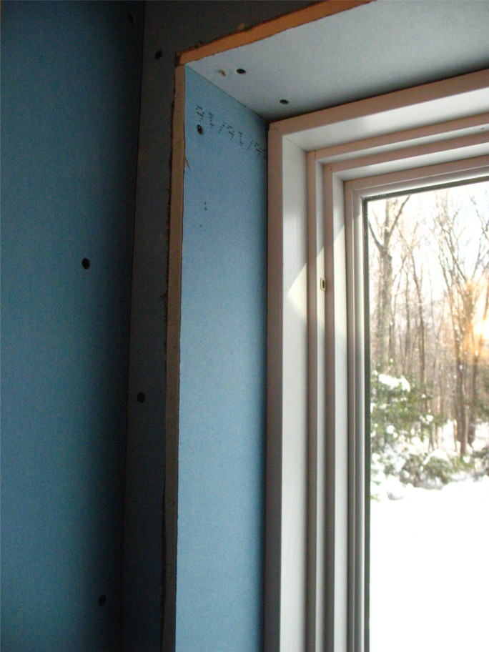 Drywall window returns fine homebuilding What sheetrock to use in bathroom