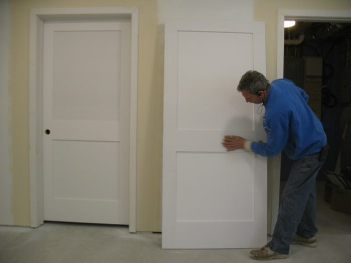 Bruce Installed The Eight Hinged Doors And Two Bypass Doors On The Second  Floor In Less Than A Day. I Think I Spent More Time Puttying The Nail Holes  And ...