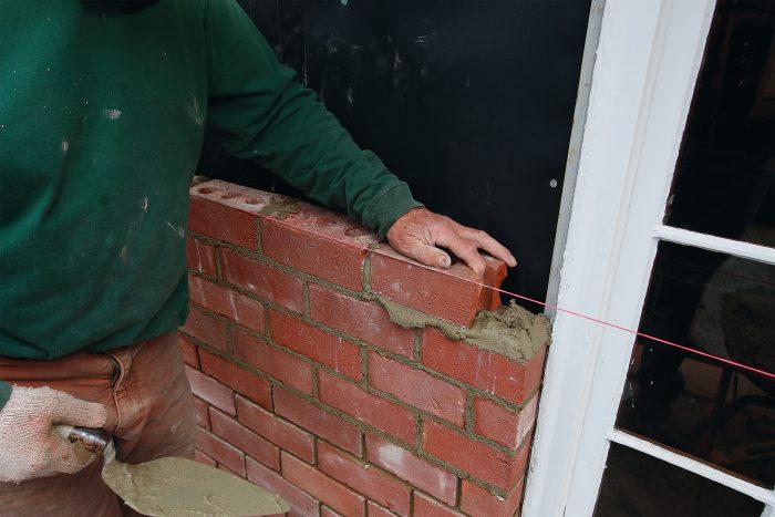 placing the brick veneer layout