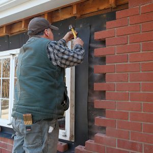 installing pvc flashing to keep water out