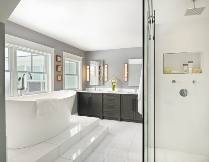 cushman design group photo by susan teare this modern and refreshed master bathroom - Modern Master Bathroom