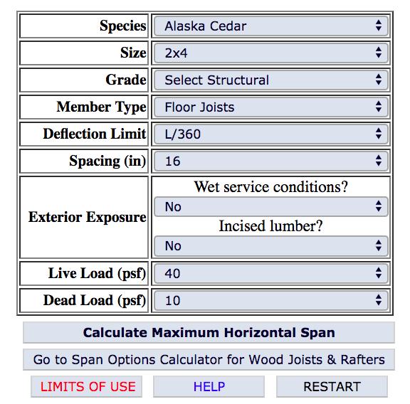 Calculator For Deck Joist Options Fine Homebuilding