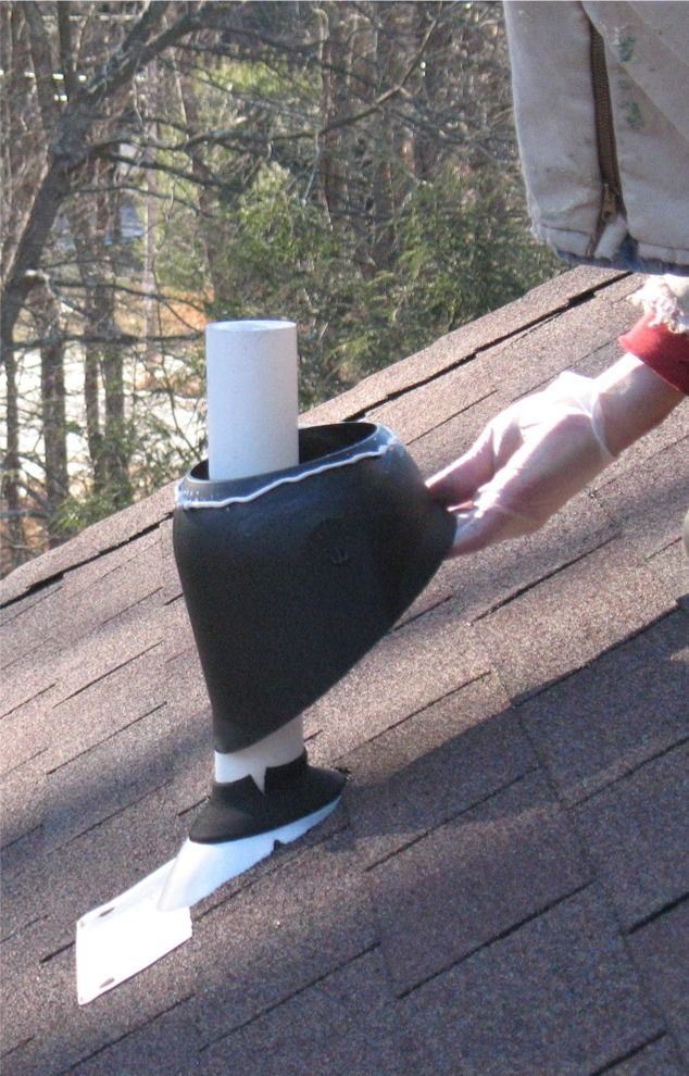 Plumbing Vent Boot Flashing Repair Method 2 Fine