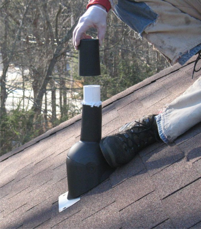Plumbing Vent Boot Flashing Repair Method 2 Fine