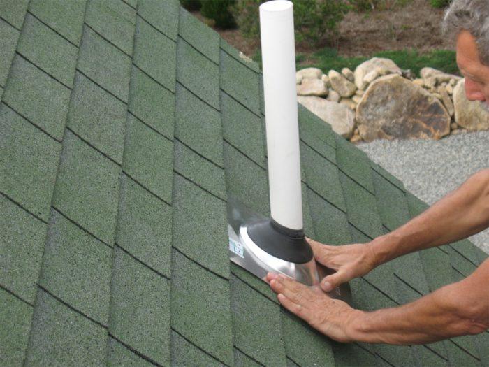 Plumbing Vent Boot Flashing Repair Method 1 Fine