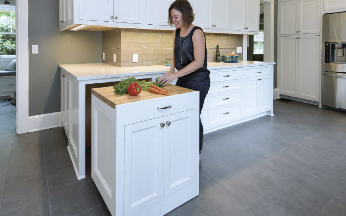 Synopsis: Carpenter Paul Johnson Details The Custom Rollout Cabinet He  Built To Act As An Island That Also Integrates With The Cabinetry In His  Clientu0027s ...