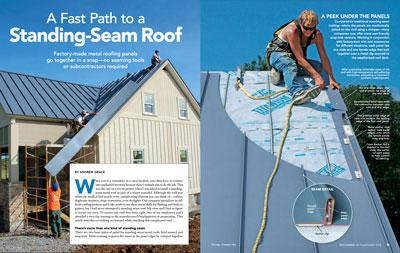 Snap-Lock Standing-Seam Metal Roof Installation sprd
