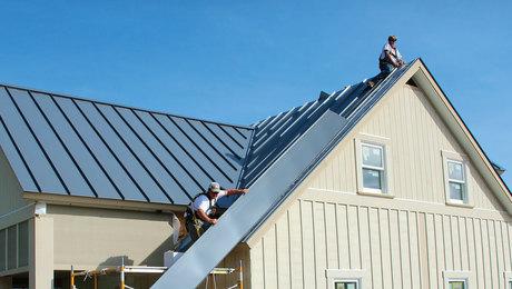 Snap-Lock Standing-Seam Metal Roof Installation