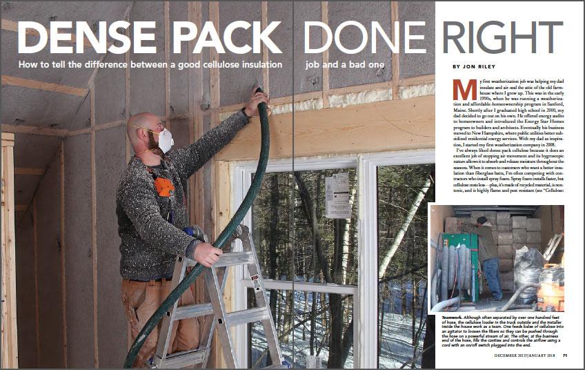 Dense-Pack Cellulose Insulation Done Right spread