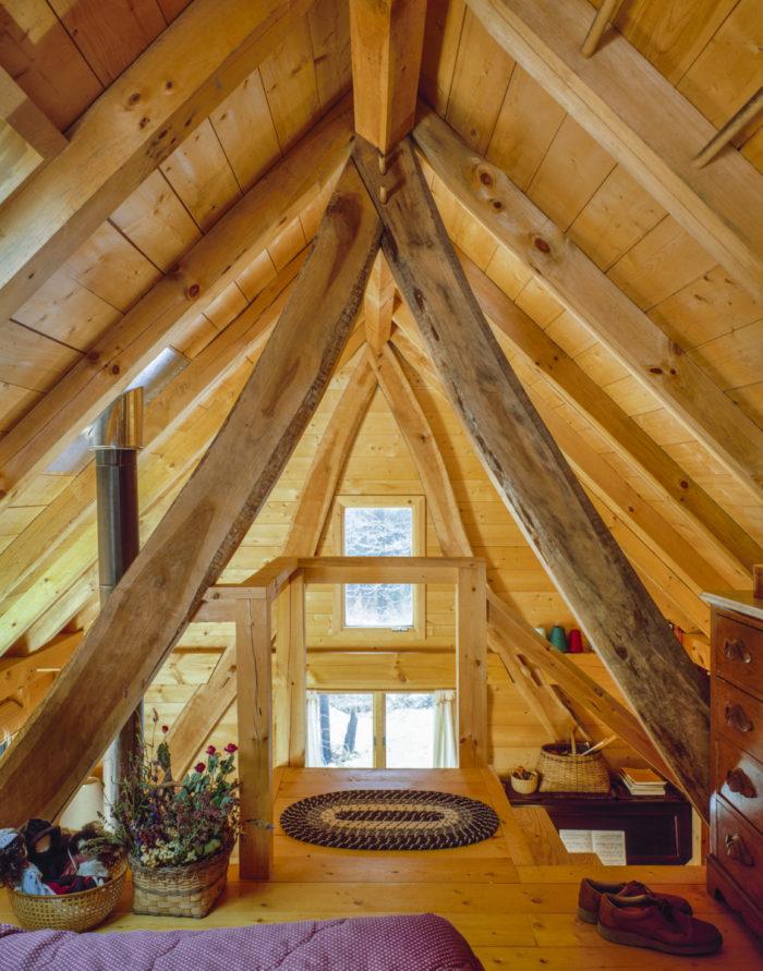 A cruck framed cottage fine homebuilding for Cruck frame house plans