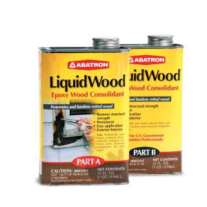 Abatron Epoxy products stabilize and fill decayed wood.