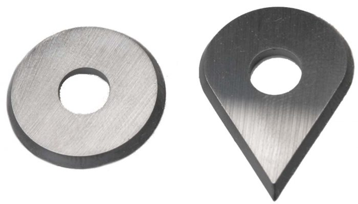 drop-shaped replacement blades
