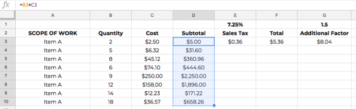 construction estimate spreadsheet template copy and paste 04