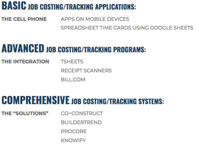 Job-Costing-Applications