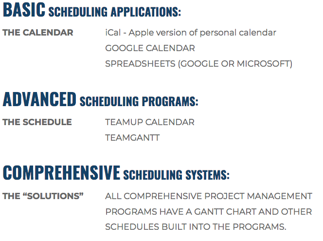 Scheduling-Applications