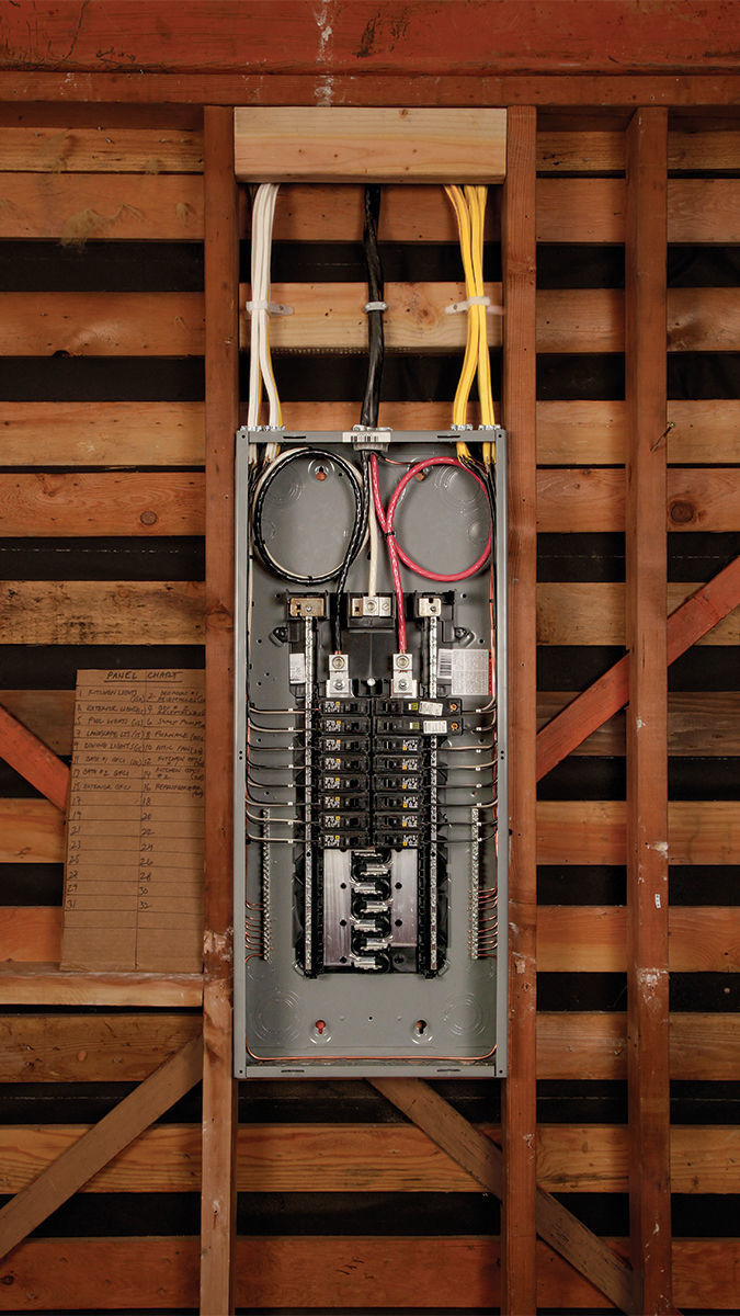 How To Install An Electrical Subpanel Fine Homebuilding Wiring Panels In Series A Of Photos Show The Systematic Process And Keep Organized With Zip Ties Labels