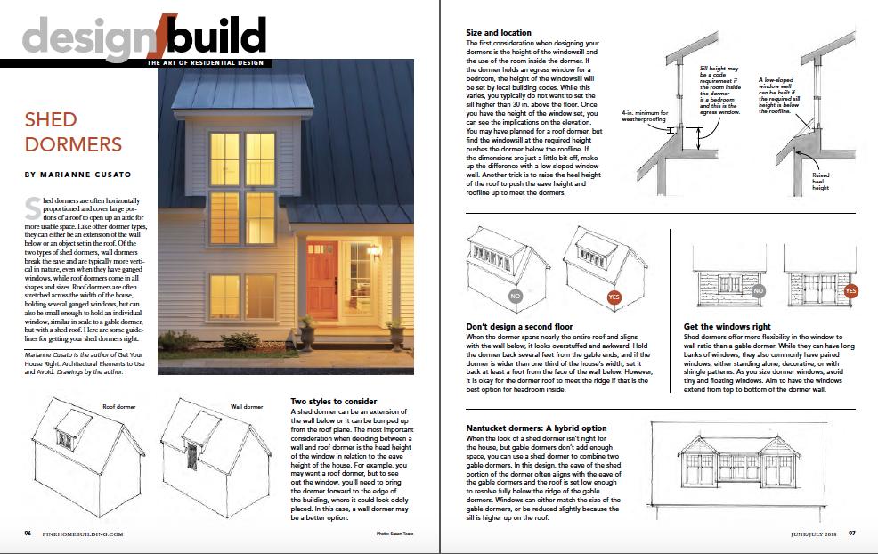 design and build magazine spread