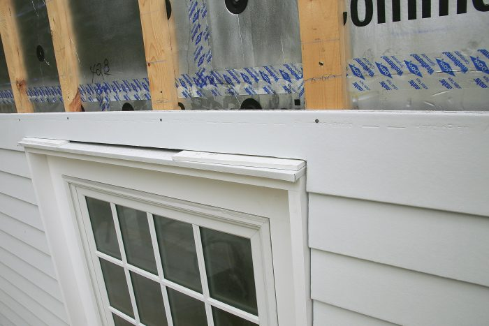 Install the planks over openings with the same 1⁄4-in. gap used below the first course
