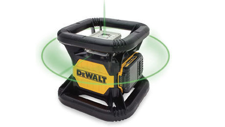 dewalt self leveling rotary level features an easily seen laser - Home Building Tools
