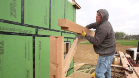 timber frame with basic tools