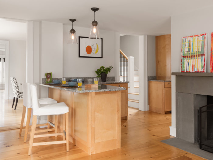 Open Floor Plan For New England Farmhouse Fine Homebuilding