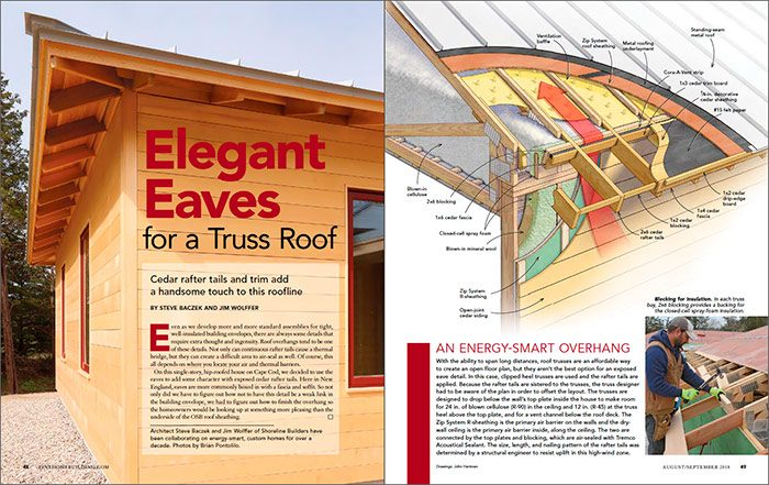 Elegant Eaves for a Truss Roof