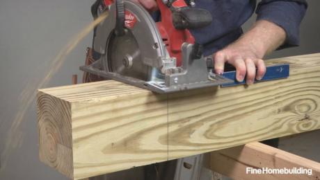 cutting 6x6 deck posts