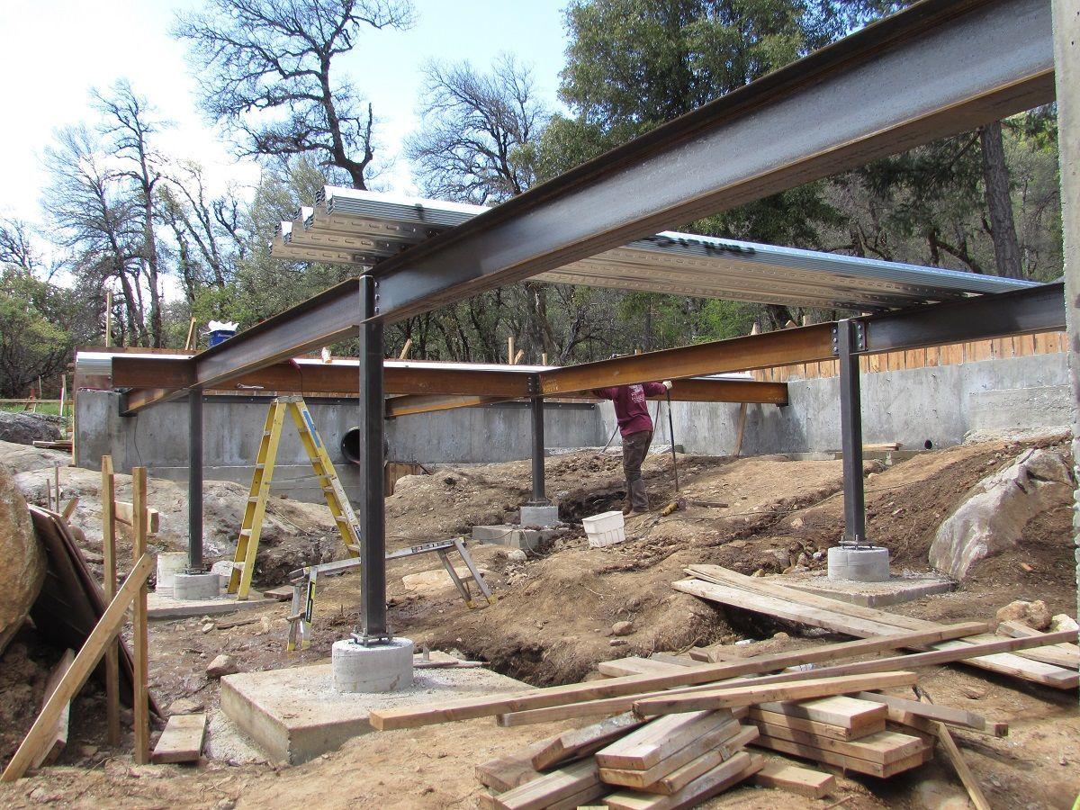 Steel Beams And A Metal Pan Deck Fine Homebuilding