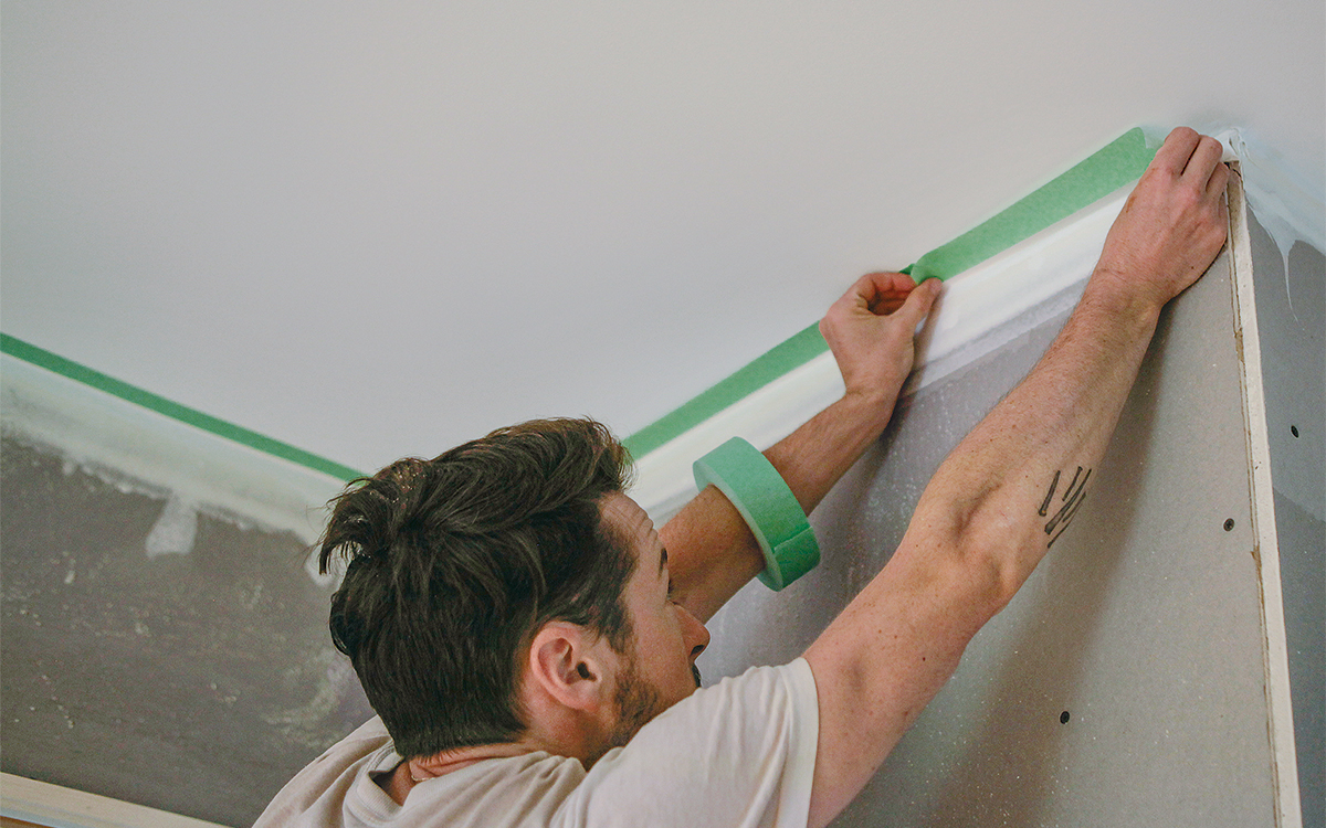 establish the thickness of plaster