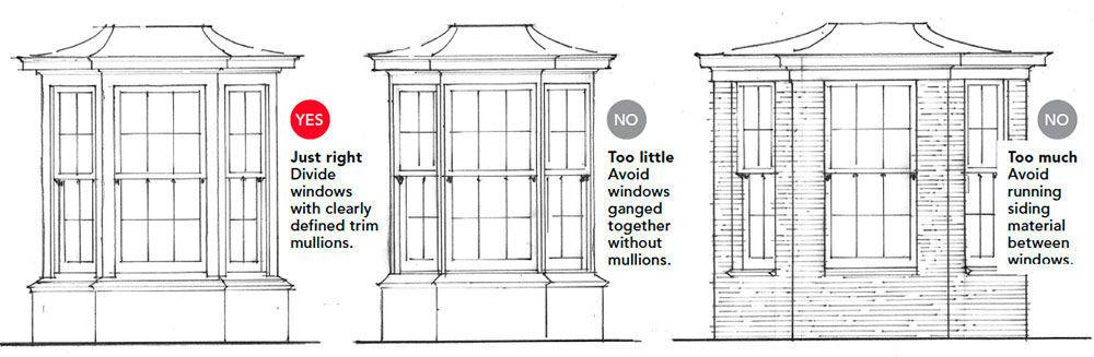 structure between windows